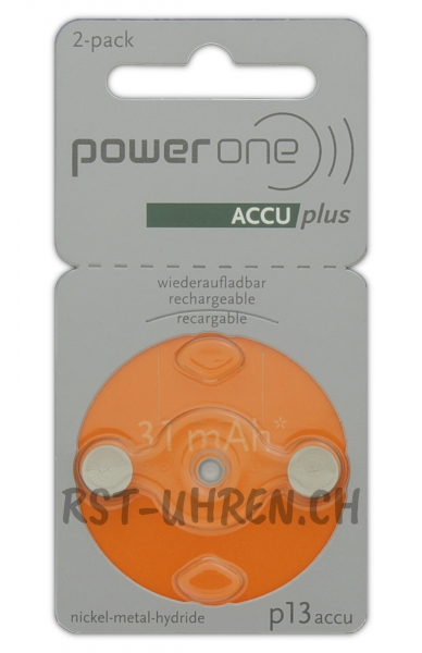 Hörgeräte Akku power one ACCU plus p13